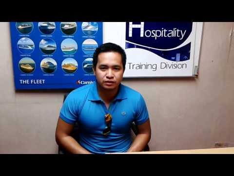 Interview Mr. Lloyd from Philippines after getting the job from Royal Caribbean.