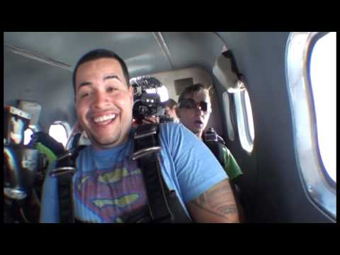 David Colon jumping out of a plane!