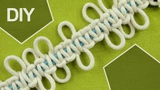 Square knot with Loops / DIY Tutorial