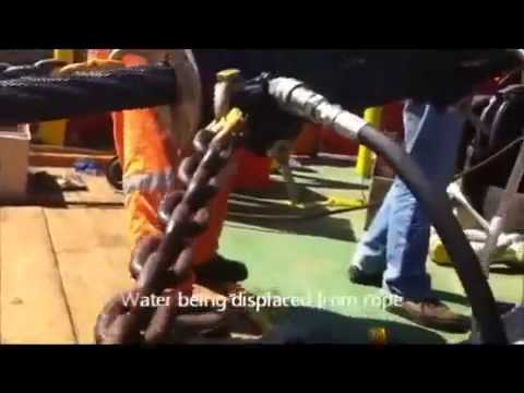 Viper Wire Rope Lubricator trialing four lubricants on Offshore Vessel   YouTube
