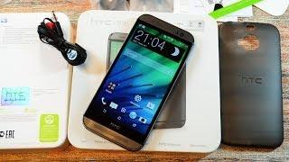 Распаковка HTC One (M8), демонстрация чехла и первое включение (unboxing)
