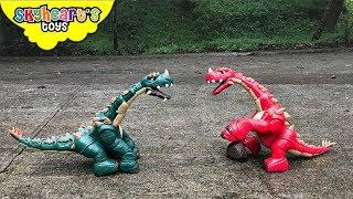 DINOSAUR FIGHT Part 2 | Red vs. Green Apatosaurus Battle Dinosaurs for kids toys
