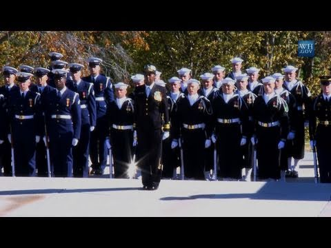 Vice President Joe Biden Honors Veterans Day at Arlington Cemetery