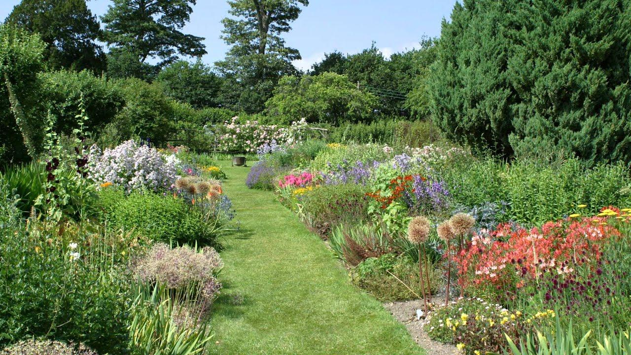 Tranquil Garden Flowers Youtube