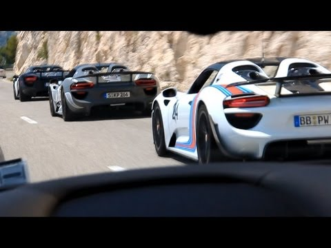 6 porsche 918 spyder sound in monaco youtube. Black Bedroom Furniture Sets. Home Design Ideas