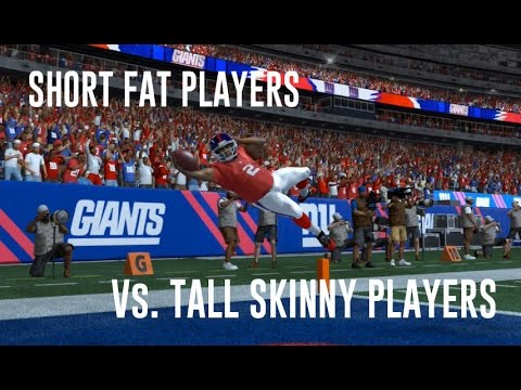 SHORT FAT PLAYERS vs TALL SKINNY PLAYERS - MADDEN 15 CHALLENGE