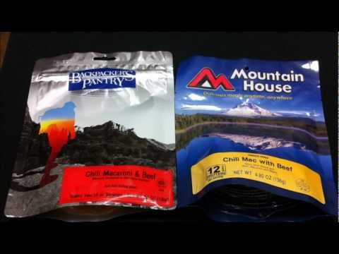 Comparison: Mountain House and Backpackers Pantry Food