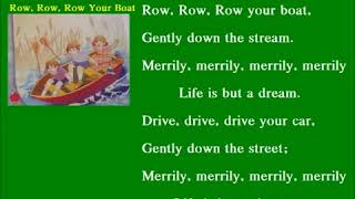 Kids Rhymes  - Row, Row, Row Your Boat Song -  Nursery Rhymes