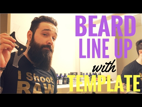 Easy beard line up tutorial | Beard template guide review