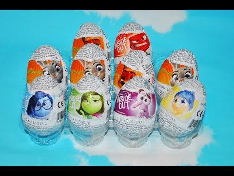 ❀10 Шоколадных Сюрпризов Zaini Головоломка Зверополис Disney Zootopia Inside Out