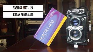 Shooting Medium Format with the Yashica Mat -124, Portra 400, Church & Tacos!!