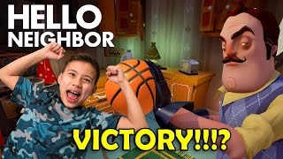 TAKE THIS BASKETBALL!!! Hello Neighbor Basement Discovery!