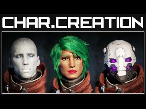 Destiny Character Creation - All Races, Classes and Options | Destiny Gameplay