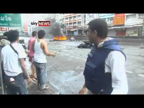 Sky News Thai Army and violence in Bangkok