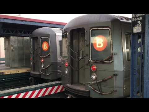 ⁴ᴷ NYC Subway: B Train Action @ Brighton Beach