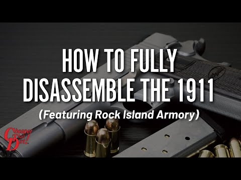 1911 Disassembly - Rock Island Armory