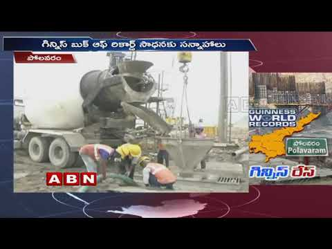 Polavaram Project set to Create Guinness World Record in Concrete Works | ABN Telugu