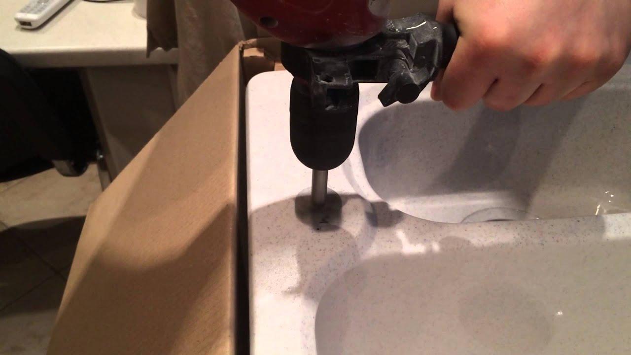 Как сделать отверстие для раковины