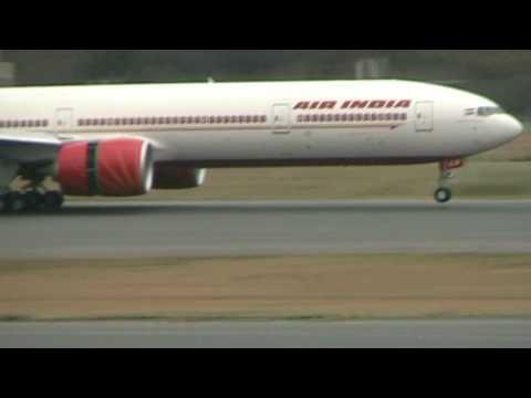 Air India Boeing 777-300ER Landing at Narita