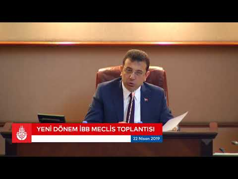 Yeni dönem ilk İBB Meclis Toplantısı Ekrem İmamoğlu yönetiminde yapılıyor.