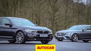 2017 BMW 5-Series v Mercedes-Benz E-Class | Can the 530d beat the E350d? | Autocar