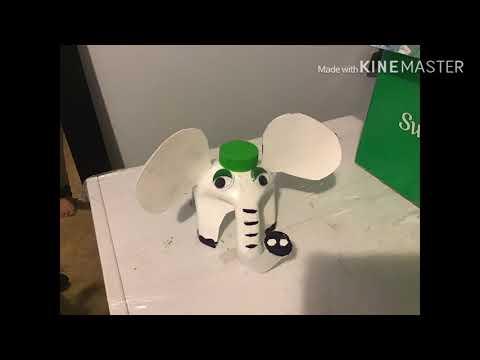 Mamilala's bottle elefant craft DIY