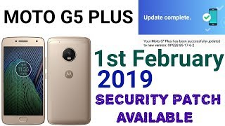 Moto G5 plus new security patch update available 2019 don't miss