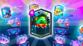 GIVE ME THE INFERNO DRAGON! Clash Royale Super Magical Chests Openings for the New Card!