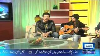 Tau Phir AaoLIVE unplugged by RoXen on the show Harri Mirchain on Dunya TV