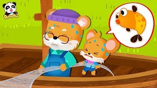 Whiskers Catches Big Fishes with Grandpa | Kids Good Habits | Picture Book Animation | BabyBus