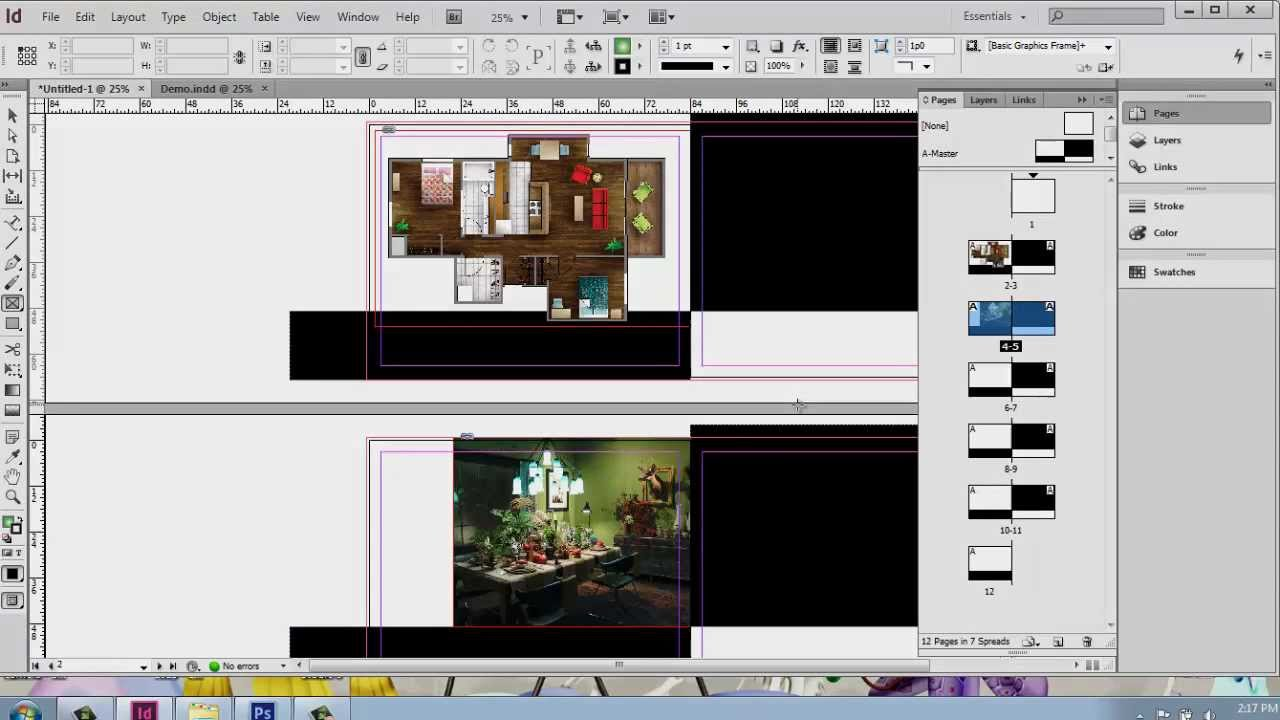 Adobe indesign cs6 interior design portfolio part 7 placing images brooke godfrey youtube for How to make interior designer portfolio