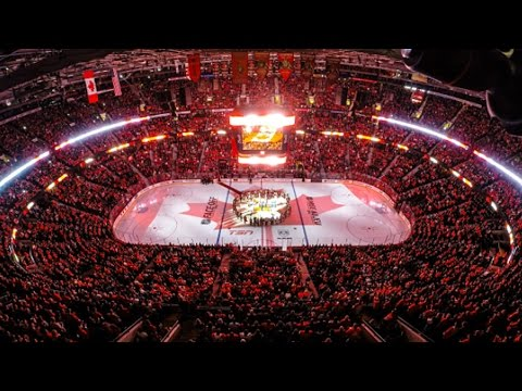 Fans in Ottawa, Montreal and Toronto sing �O Canada� in unison to pay their respects and honor those affected by the recent tragedies in Canada.