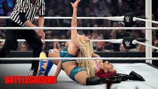 Sasha Banks &  Bayley vs. Charlotte & Dana Brooke: WWE Battleground 2016 on WWE Network