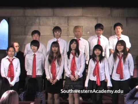 The Southwestern Academy Choir sings Joyful, Joyful by Beethoven - 02/11/2010