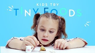 Kids Try Tiny Foods | Kids Try | HiHo Kids