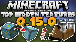 TOP HIDDEN FEATURES in  MCPE 0.15.0! - Secret Changes & Easter Eggs - Minecraft PE (Pocket Edition)