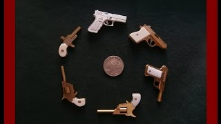 Miniature Handmade 2mm Pinfire and Rimfire Pistols - Miniature Gunsmith
