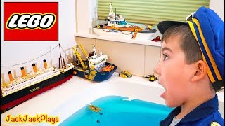 Do these Lego Boats Float? Cops & Robbers Pretend Play Skit