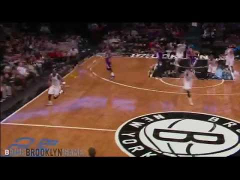 Kevin Garnett Chases Down Loose Ball, Catches Oop