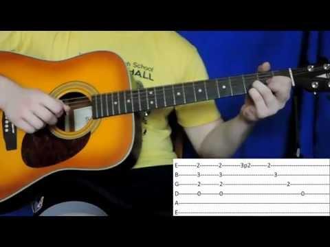 When you're gone - Avril Lgne на гитаре (видеоурок, табы, бой, перебор, разбор)