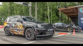 Jeep SRT8 Turbo vs Porsche 911 Turbo S