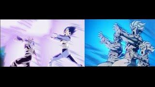 Goku Gohan Goten Vegeta Trunks combination attack comparison