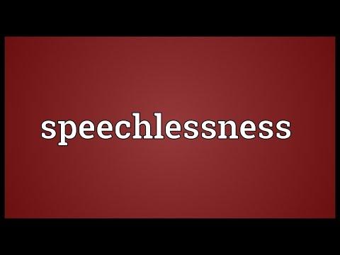 Header of speechlessness