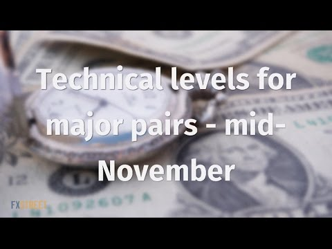 Technical levels for major pairs - mid-November