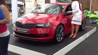 Skoda Rapid Sport (in red)