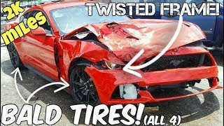 NEW Mustang GT Destroyed in 2k Miles! MAJOR Frame Damage!