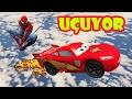 Süper Şimşek Mcqueen, Örümcek Adam ve Hulk Gökyüzü Rampasında (Çizgi Film Gibi)