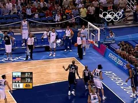 Highlights of Argentina's shock 89-81 win over the USA in the Men's Basketball to book their place in the Olympic Final during the Athens 2004 Olympic Games.