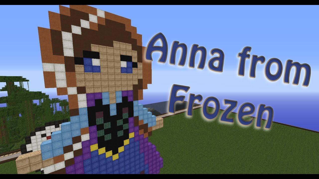 Anna ☠ Frozen Pixel Art