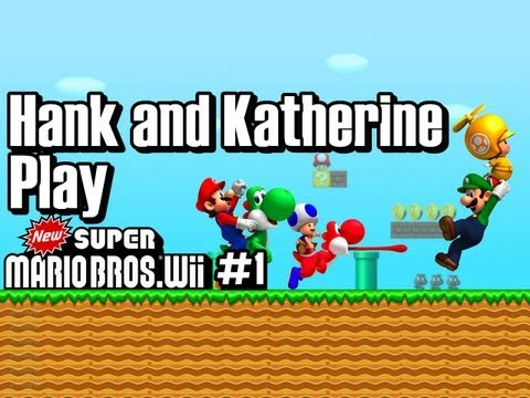 Hank & Katherine Play Super Mario Brothers Wii #1